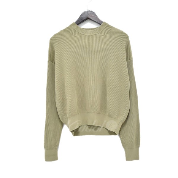 【中古】AURALEE 18SS SUPER HARD TWIST RIB KNIT PO ニット カーキ サイズ:1 【160220】(オーラリー)