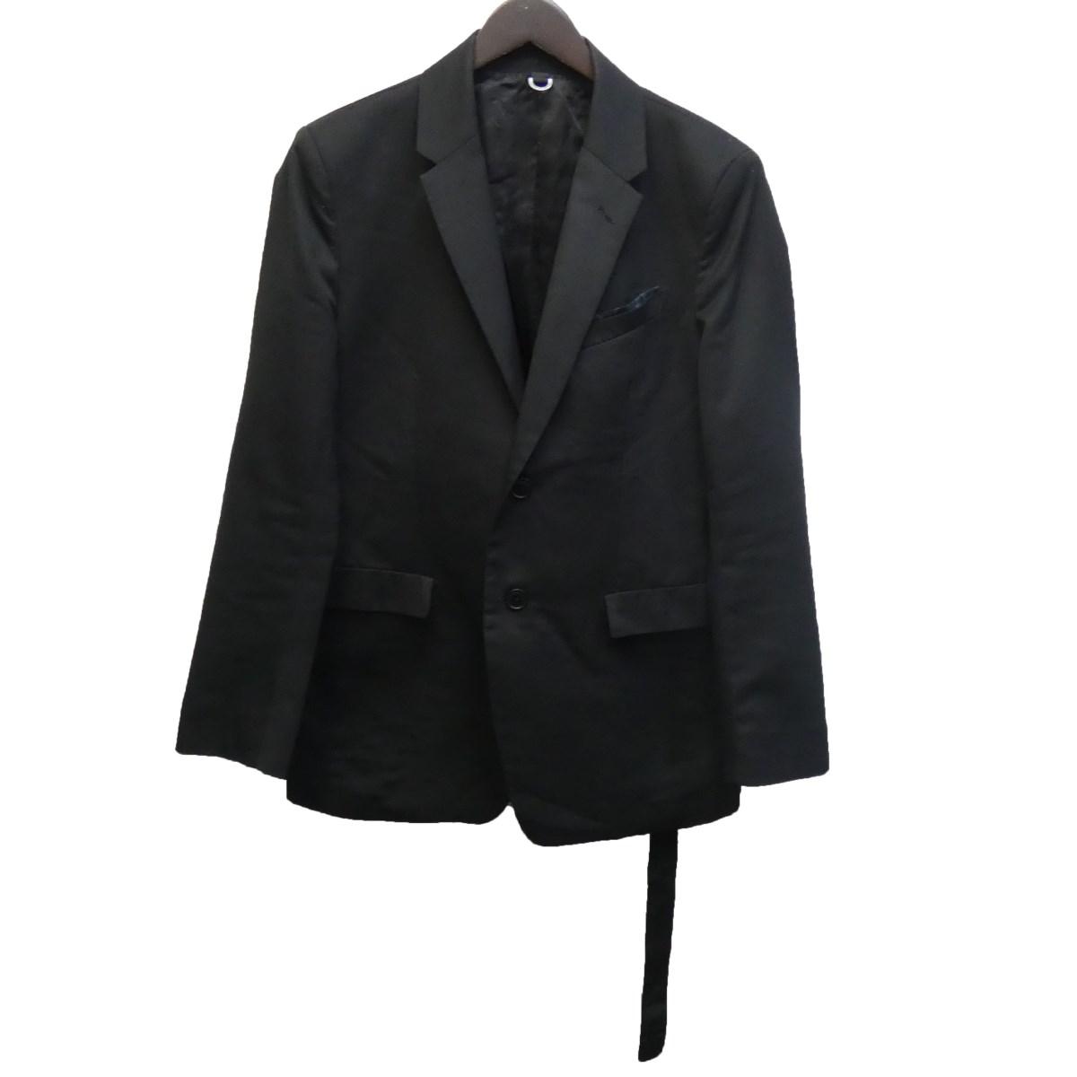 【中古】FIT MIHARA YASUHIRO ベルテッドテーラードジャケット ブラック サイズ:44 【160220】(フィット ミハラヤスヒロ)