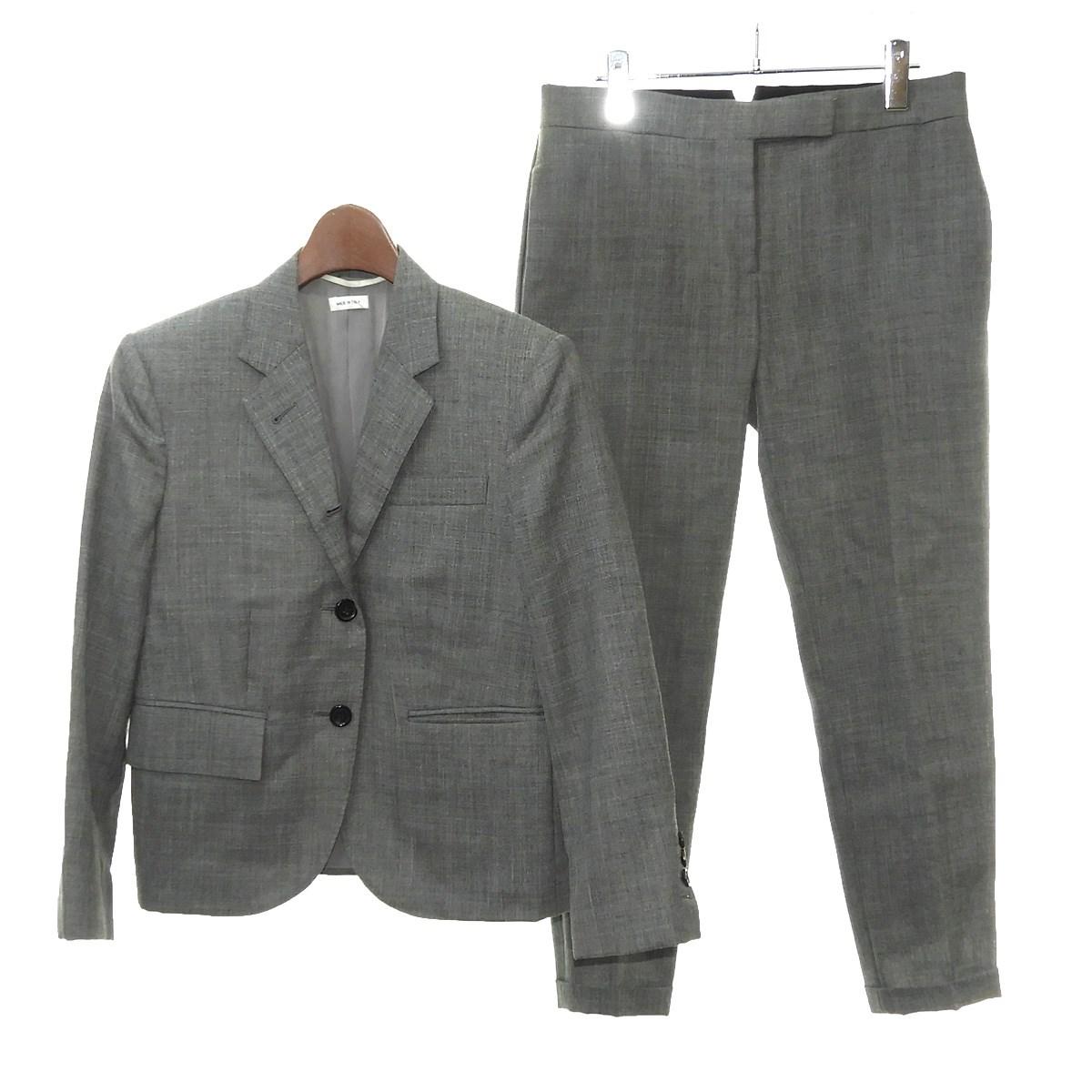 【中古】THOM BROWNE セットアップスーツ グレー サイズ:38/40 【170220】(トムブラウン)