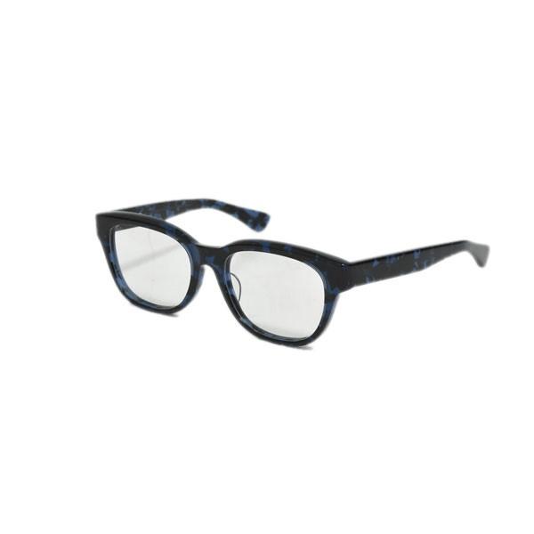 【中古】金子眼鏡 眼鏡フレーム 與市 よいち Y-19 レンズ:クリア、フレーム:ブラック・ブルー 【170220】(かねこがんきょう)