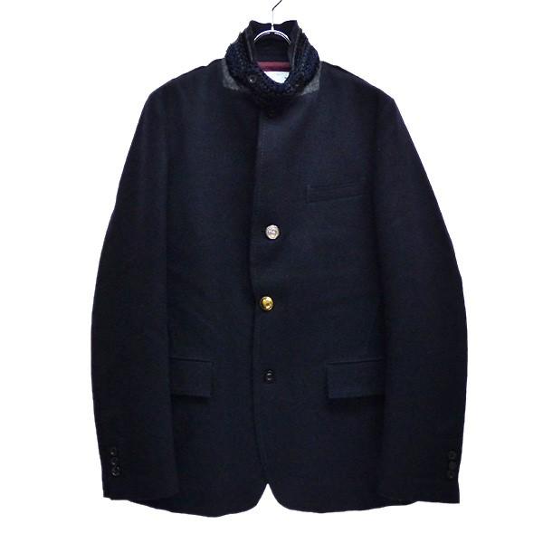 【中古】sacai 2017AW フランネルウール ジャケット ブラック サイズ:ネイビー 【170220】(サカイ)