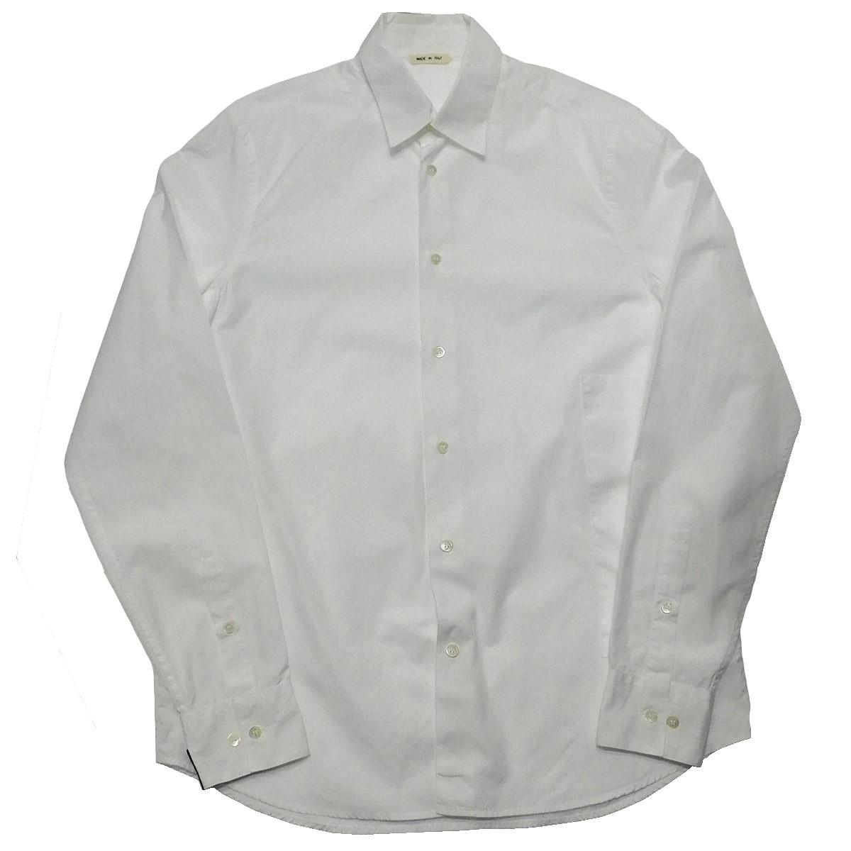 【中古】MARNI 2017SS サイドポケットパッチデザインシャツ ホワイト サイズ:50 【170220】(マルニ)