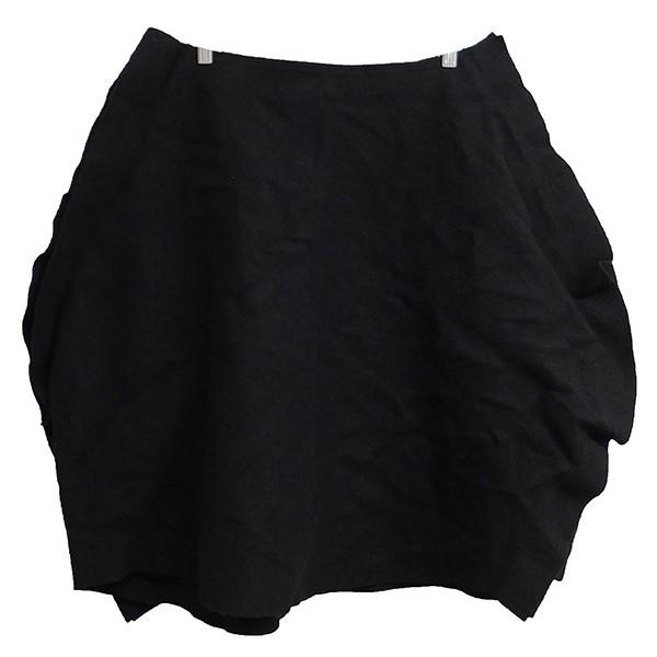 【中古】COMME des GARCONS 2017AW フェルト圧縮バルーンスカート ブラック サイズ:S 【170220】(コムデギャルソン)