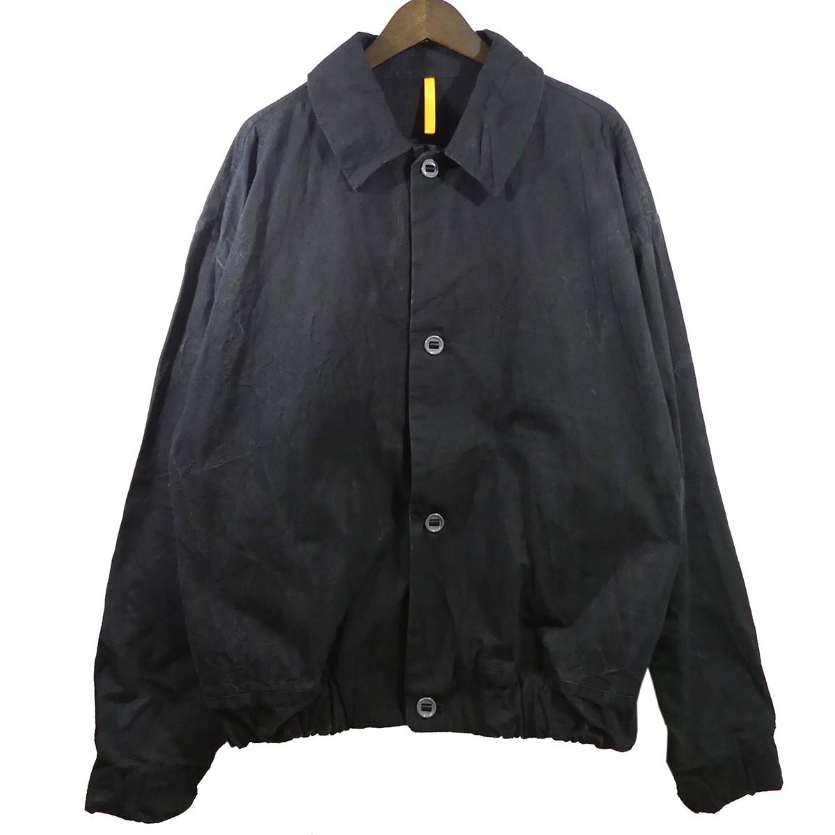 【中古】MAN-TLE18AW BLOUSON SHIRT ブルゾンシャツ ブラック サイズ:M