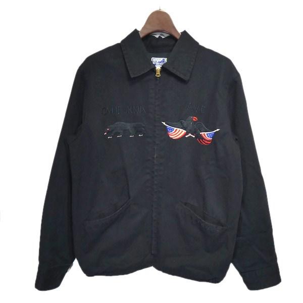 【中古】BEAMS×東洋エンタープライズ スーベニアジャケット ブラック サイズ:S 【180220】(ビームス×トウヨウエンタープライズ)