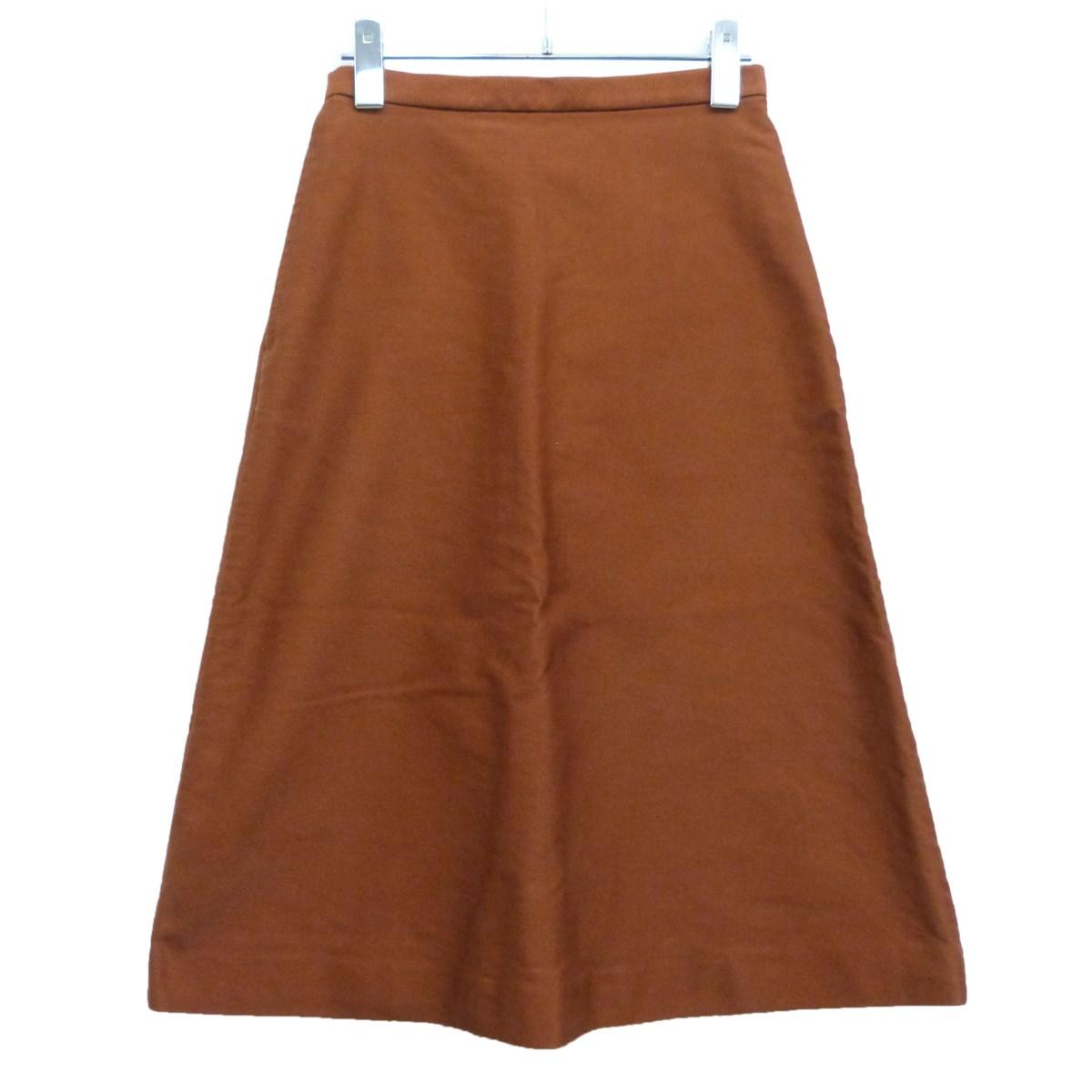 【中古】AURALEE16AW「FINX MOLESKIN SKIRT」スカート アプリコット サイズ:0 【8月10日見直し】