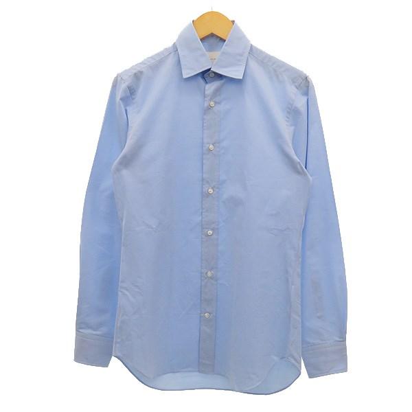 【中古】cantate ボタンダウンシャツ ブルー サイズ:46 【190220】(カンタータ)