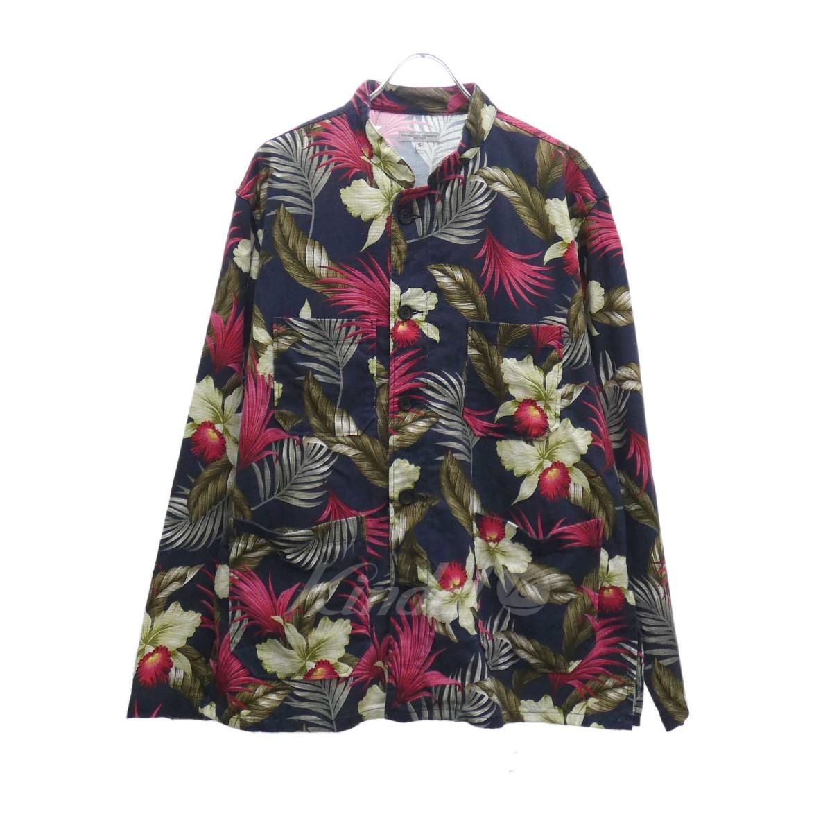 【中古】Engineered Garments Hawaiian Floral Java Cloth ジャケット 2019S/S ネイビー×レッド サイズ:S 【190220】(エンジニアードガーメンツ)