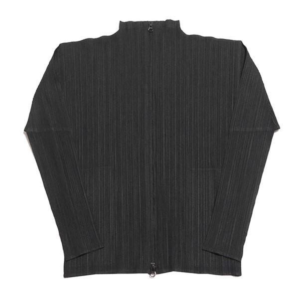 【中古】PLEATS PLEASE プリーツ ジップアップ ジャケット ブラック サイズ:3 【190220】(プリーツプリーズ)