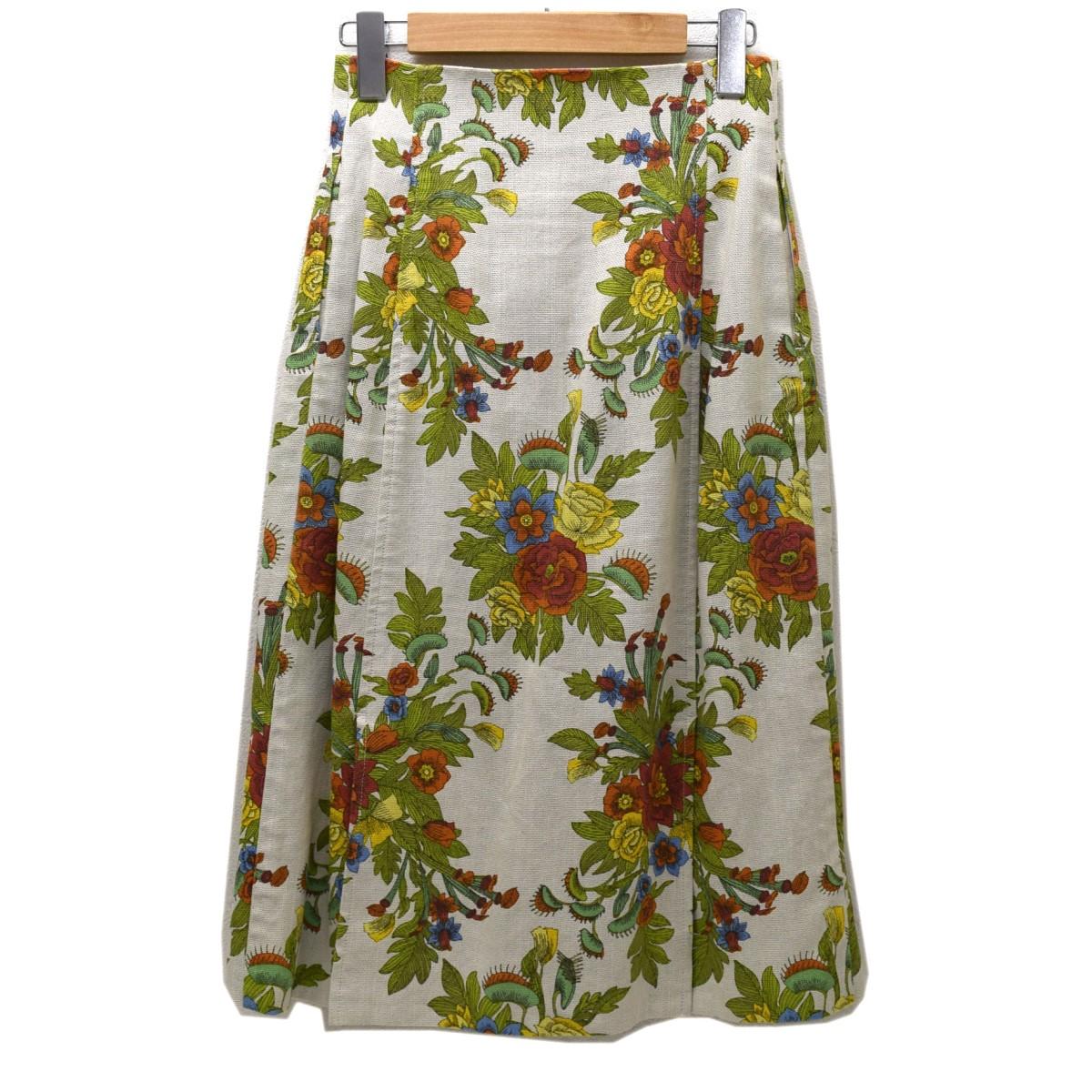 【中古】beautiful people mesh flower printtight skirt アイボリー サイズ:34 【190220】(ビューティフルピープル)