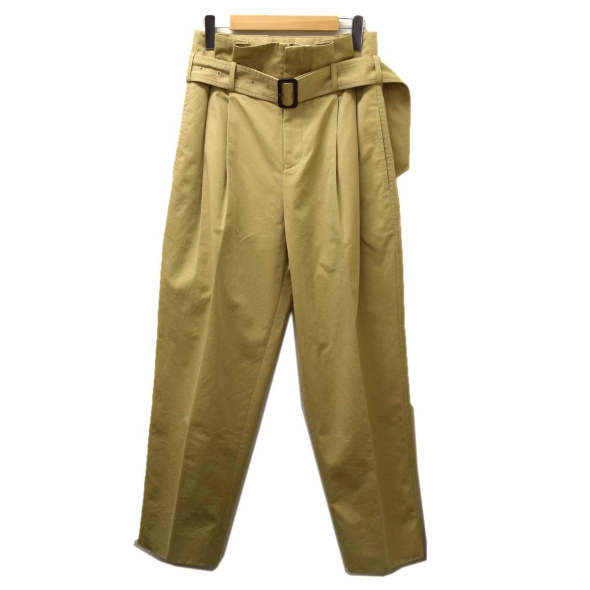 【中古】beautiful people cotton twill paper bag waist pants ベージュ サイズ:34 【190220】(ビューティフルピープル)