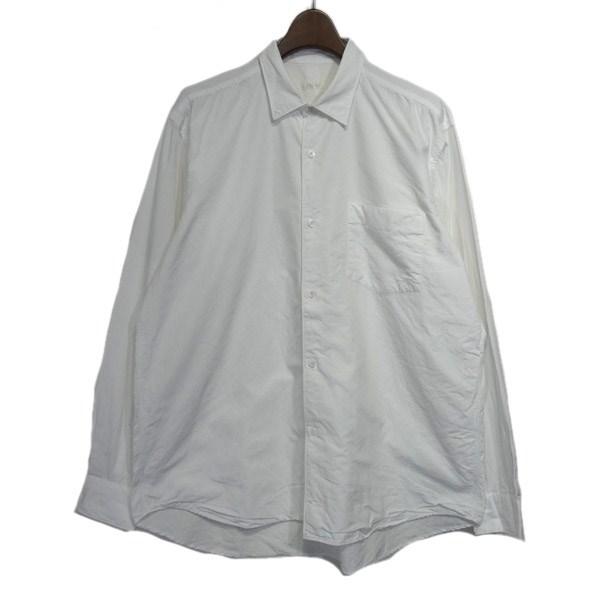 【中古】COMOLI 2016AW コモリダブルフロントシャツ ホワイト サイズ:2 【200220】(コモリ)