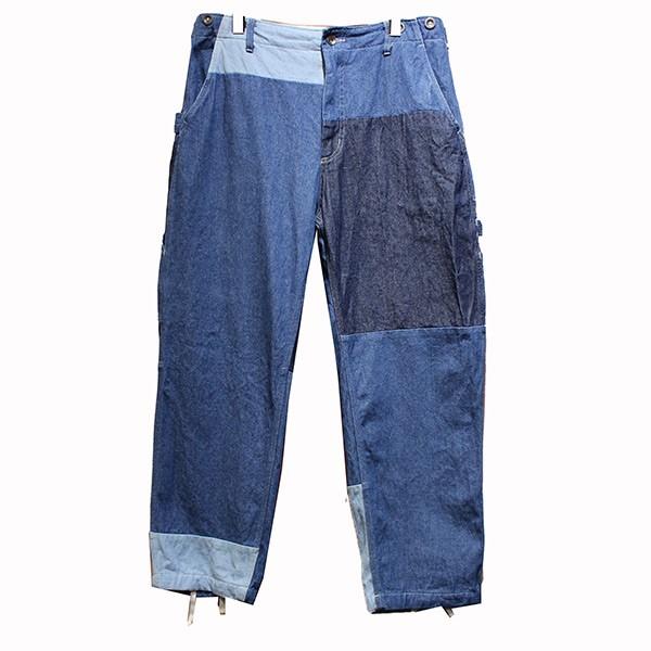 【中古】Engineered Garments 19SS Painter Pant Washed 8oz Denim パッチワーク ペインターパンツ インディゴ サイズ:S 【190220】(エンジニアードガーメンツ)
