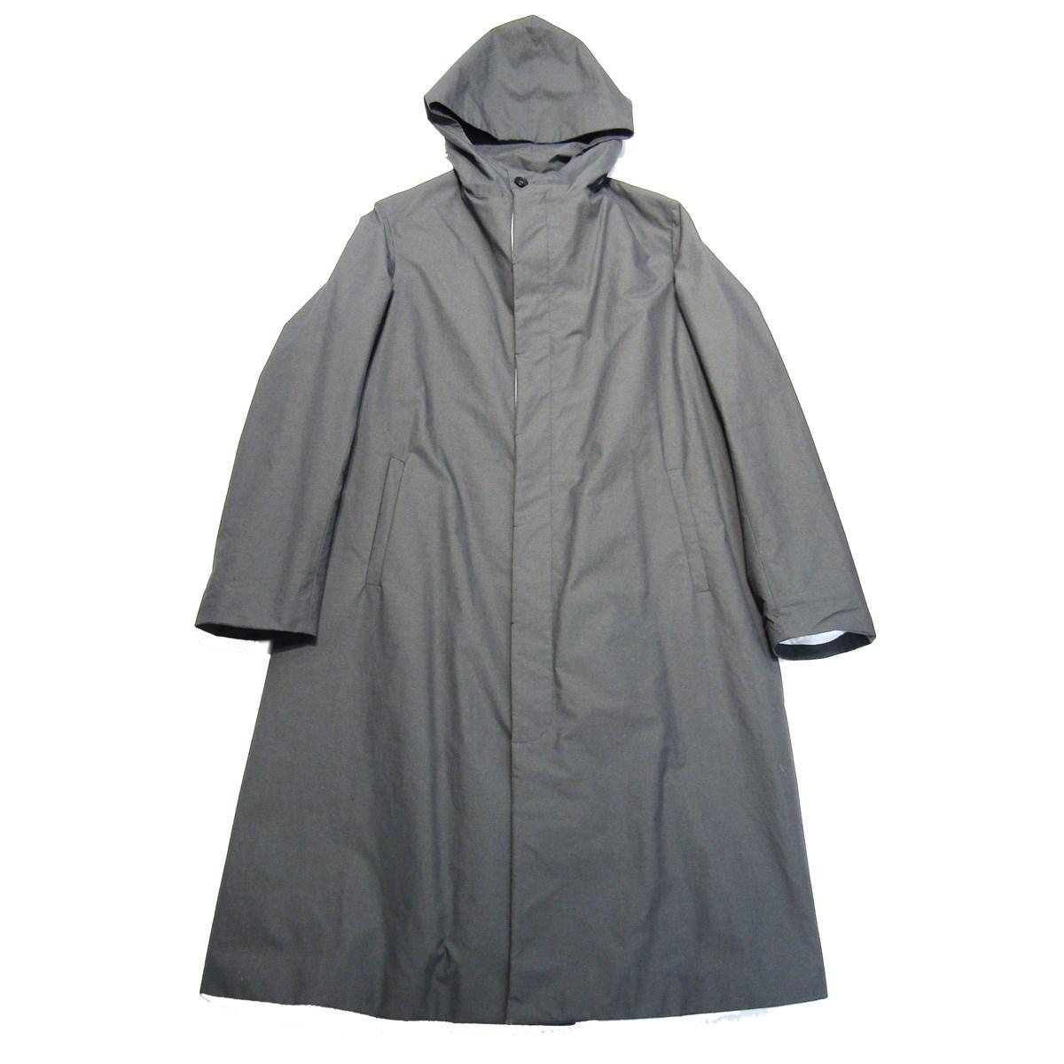 【中古】Bergfabelフード付ロングコート グレー サイズ:48 【7月6日見直し】