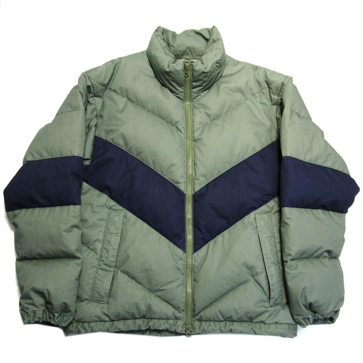 【中古】THE NORTH FACE PURPLE LABEL Cotton Down Jacket ダウンジャケット カーキ×ネイビー サイズ:S 【200220】(ザノースフェイス パープルレーベル)