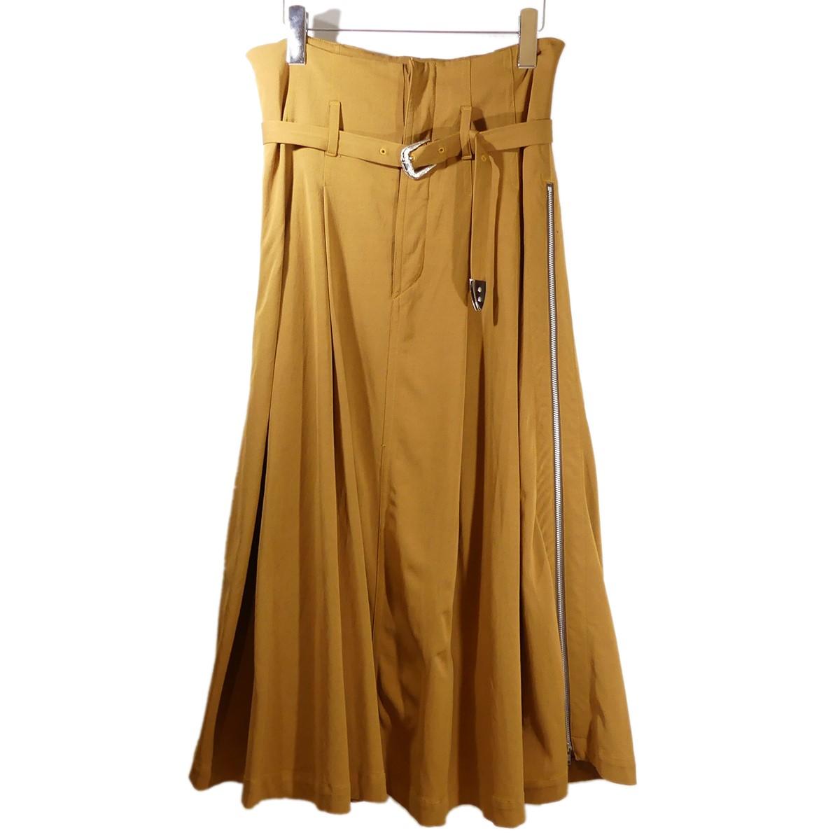 【中古】TOGA PULLA レーヨンツイルスカート 2018AW ブラウン サイズ:36 【200220】(トーガ プルラ)