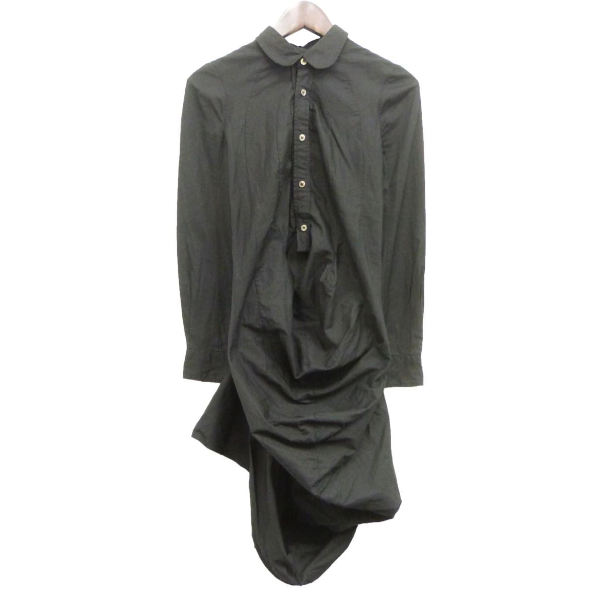【中古】JUNYA WATANABE CdG 10SSシャツワンピース ブラック サイズ:S 【210220】(ジュンヤワタナベコムデギャルソン)