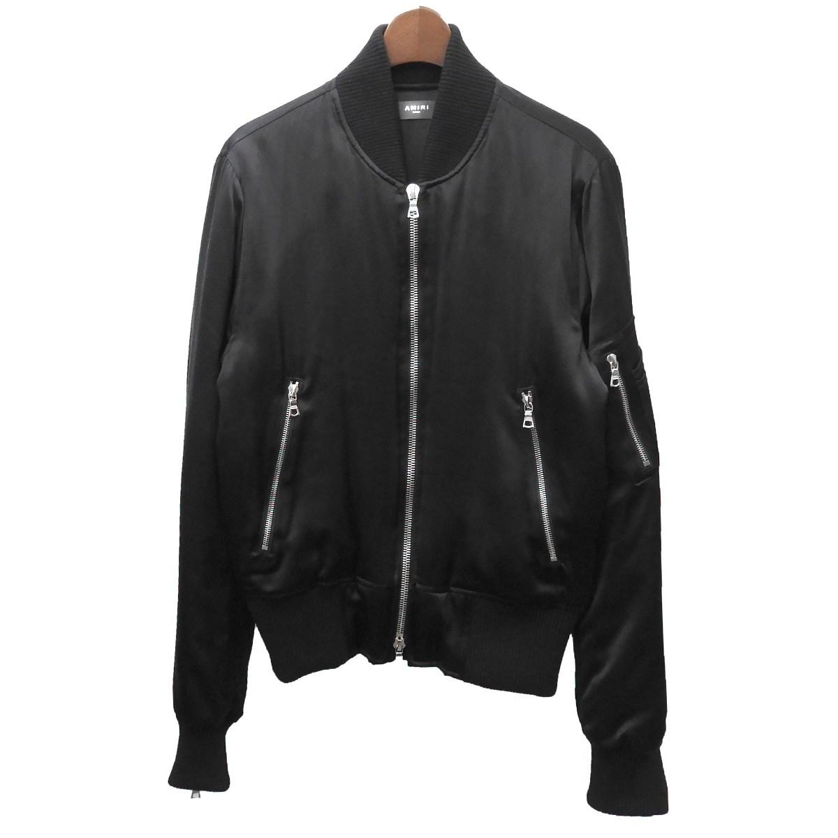 【中古】AMIRI シルクボンバージャケット ブラック サイズ:S 【220220】(アミリ)