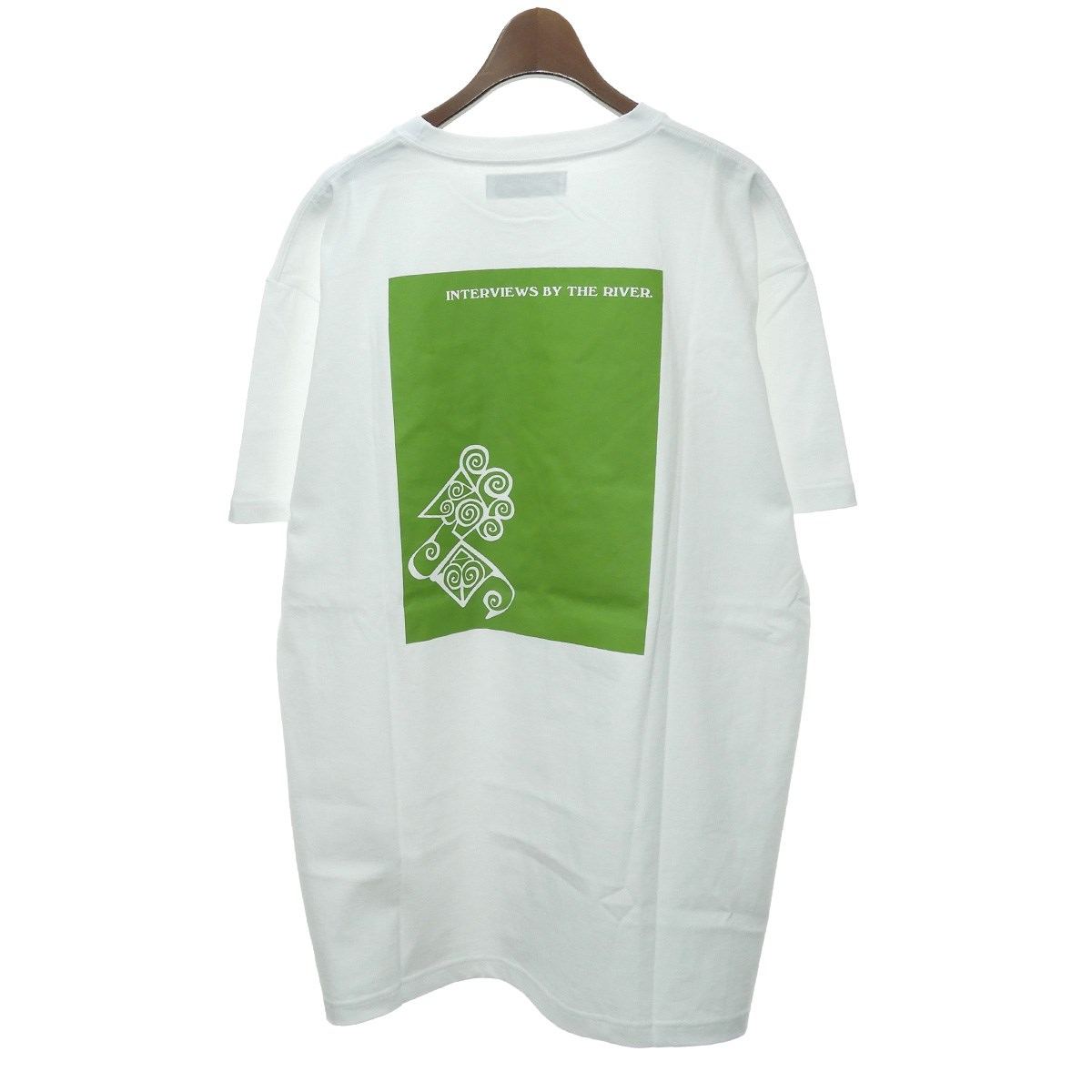 【中古】Kiko Kostadinov 2019SS NTERVIEWS BY THE RIVERプリントTシャツ ホワイト サイズ:XL 【220220】(キココスタディノフ)