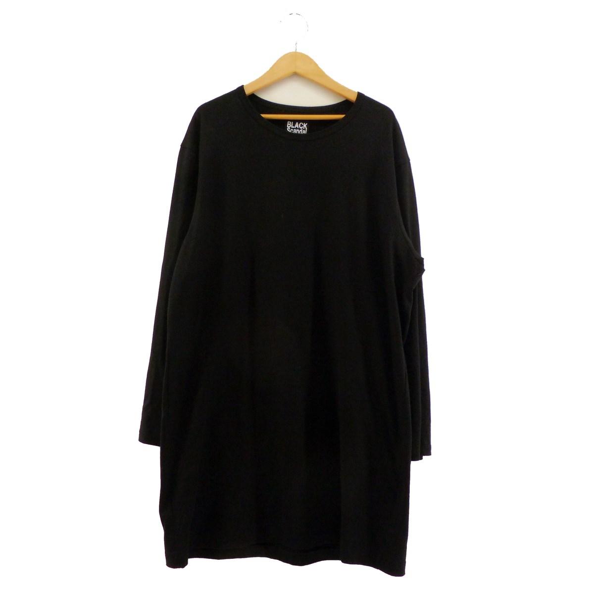 【中古】BLACK Scandal Yohji Yamamoto 2019AW バックプリントロングカットソー ブラック サイズ:3 【220220】(ブラックスキャンダルヨウジヤマモト)