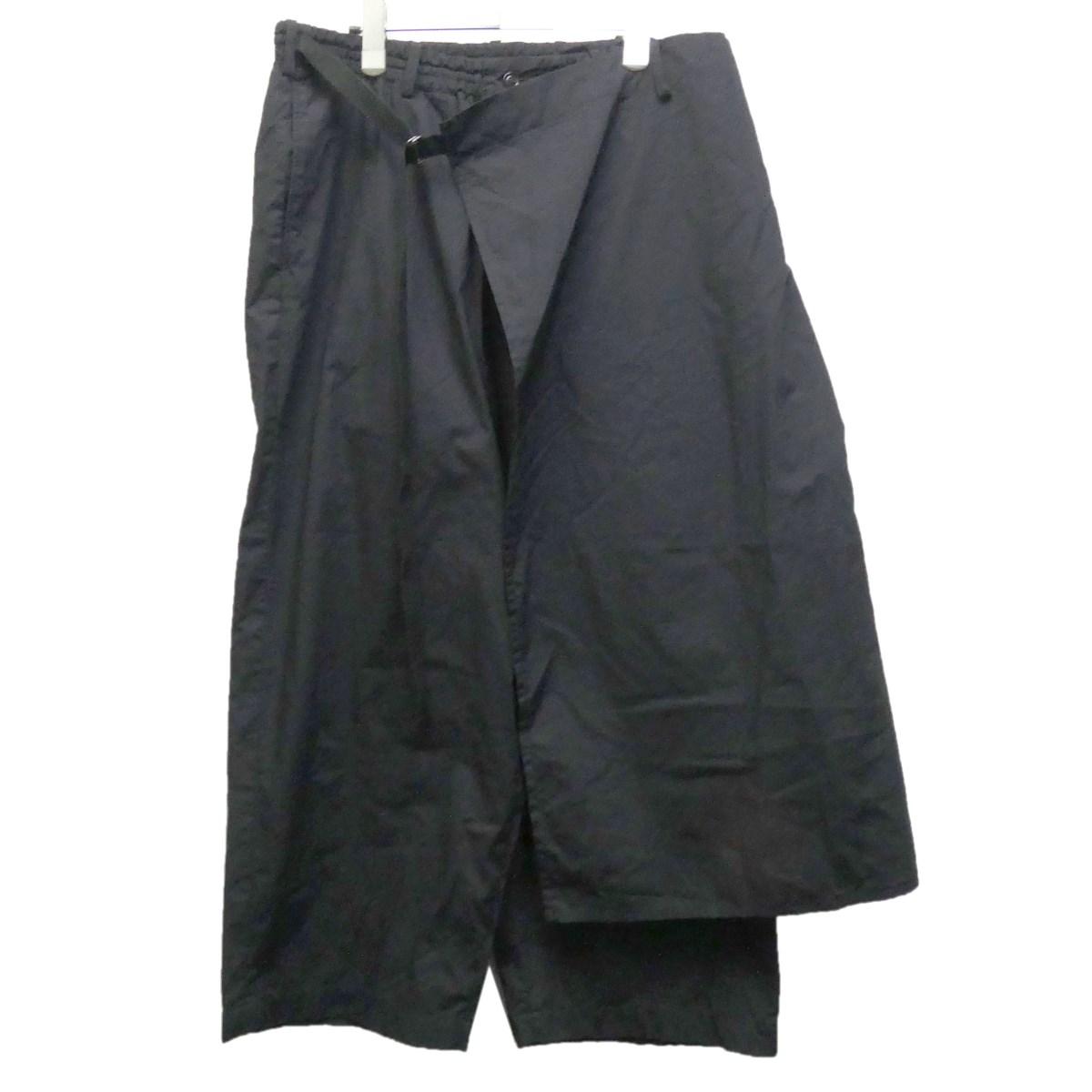 【中古】Syte 18SS ラップパンツ ブラック サイズ:3 【220220】(サイト)