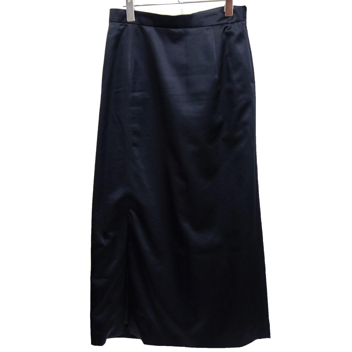 【中古】6(ROKU) BEAUTY&YOUTH 「SATIN SKIRT」 サテンタックスカート ネイビー サイズ:38 【220220】(ロク ビューティーアンドユース)