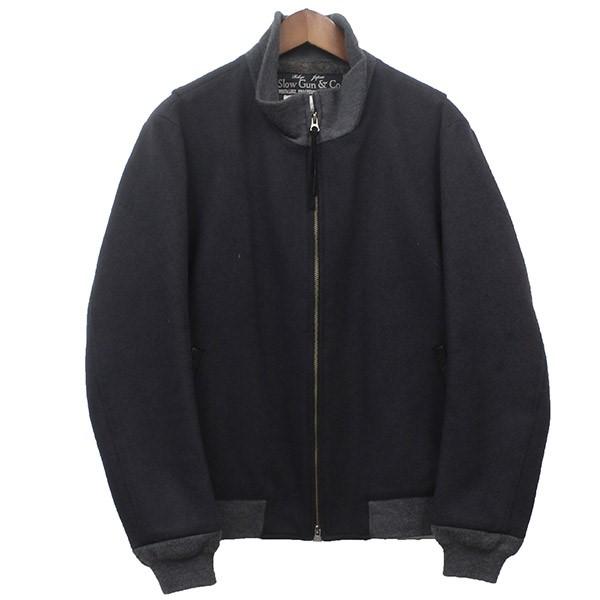 【中古】SLOWGANタンカースジャケット ブルゾン チャコールグレー サイズ:3 【4月2日見直し】
