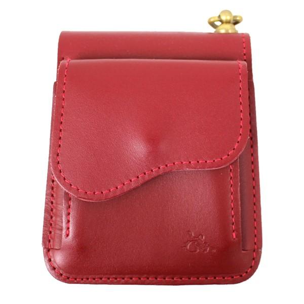 【中古】革蛸謹製 台形ショートワレット 二つ折り財布 レザー ウォレット レッド サイズ:- 【220220】(カワタコキンセイ)