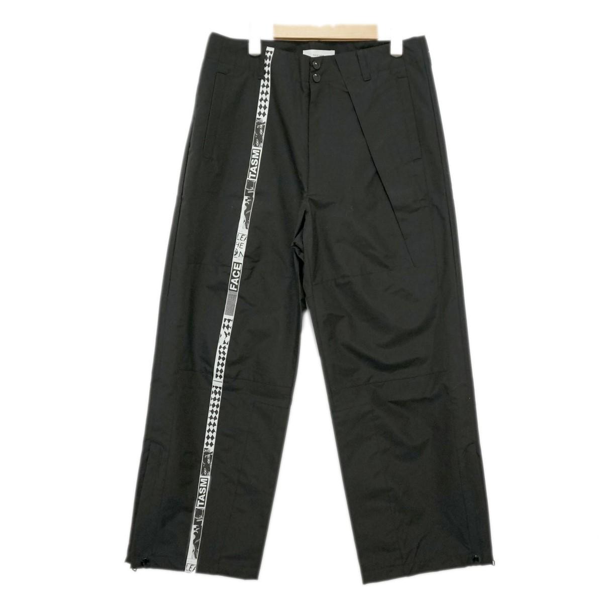 【中古】FACETASM 裾ジップ ナイロンパンツ CHG-PT-M05 ブラック サイズ:3 【240220】(ファセッタズム)