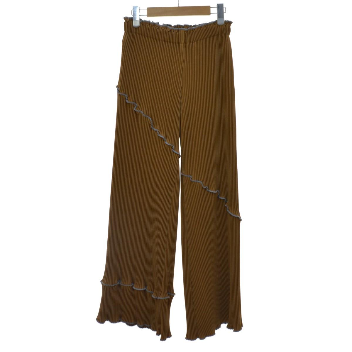 【中古】kotohayokozawa 19AW Pleats pants イージーパンツ ブラウン サイズ:F 【240220】(コトハヨコザワ)