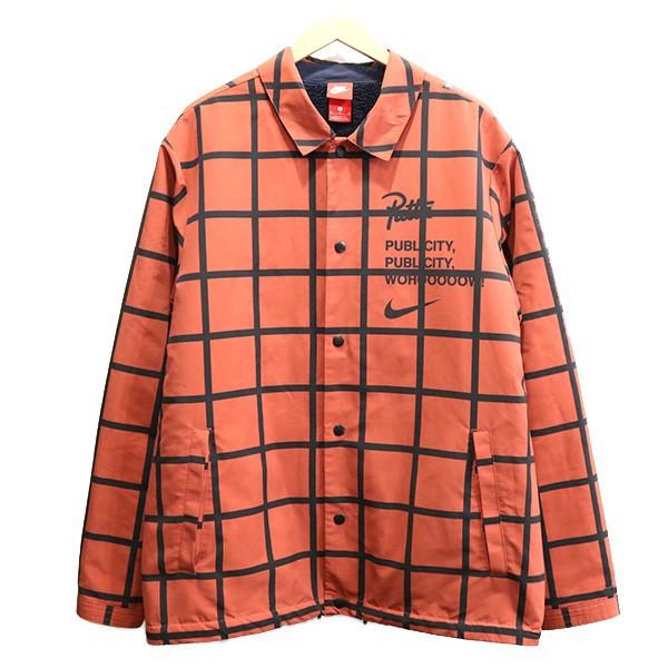 【中古】NIKE LAB ×Patta 18SS Coach Jacket コーチジャケット ブラウンレッド サイズ:M 【230220】(ナイキラボ×パタ)