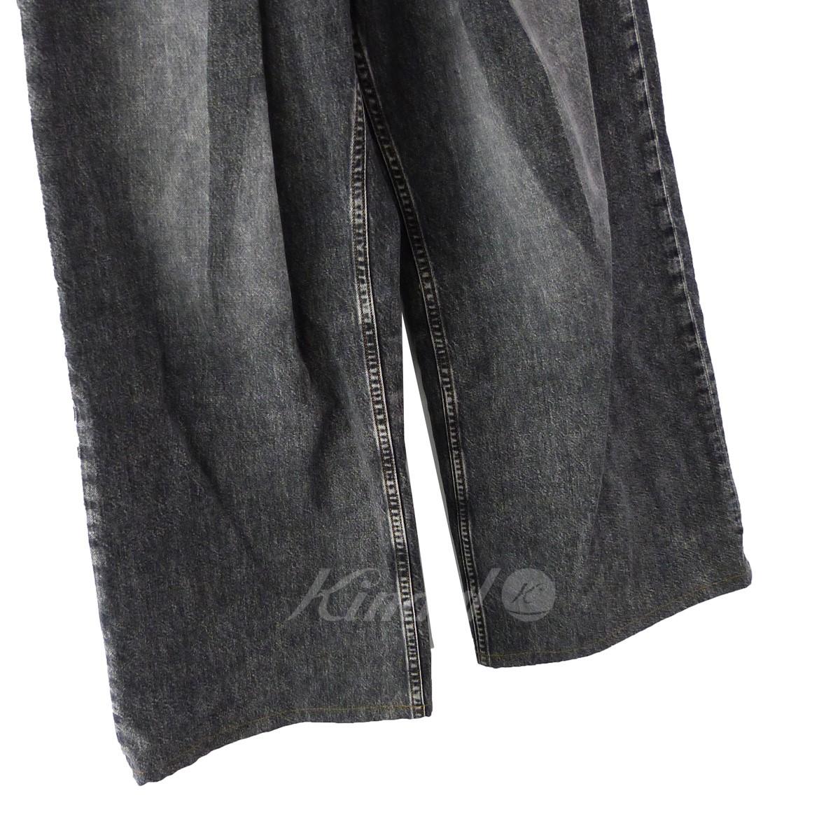 JOHN LAWRENCE SULLIVANWASHED DENIM WIDE PANTS ウォッシュドワイドデニムパンツ ブラック サイズ S240220ジョンローレンスサリバンZkwOPXuTi