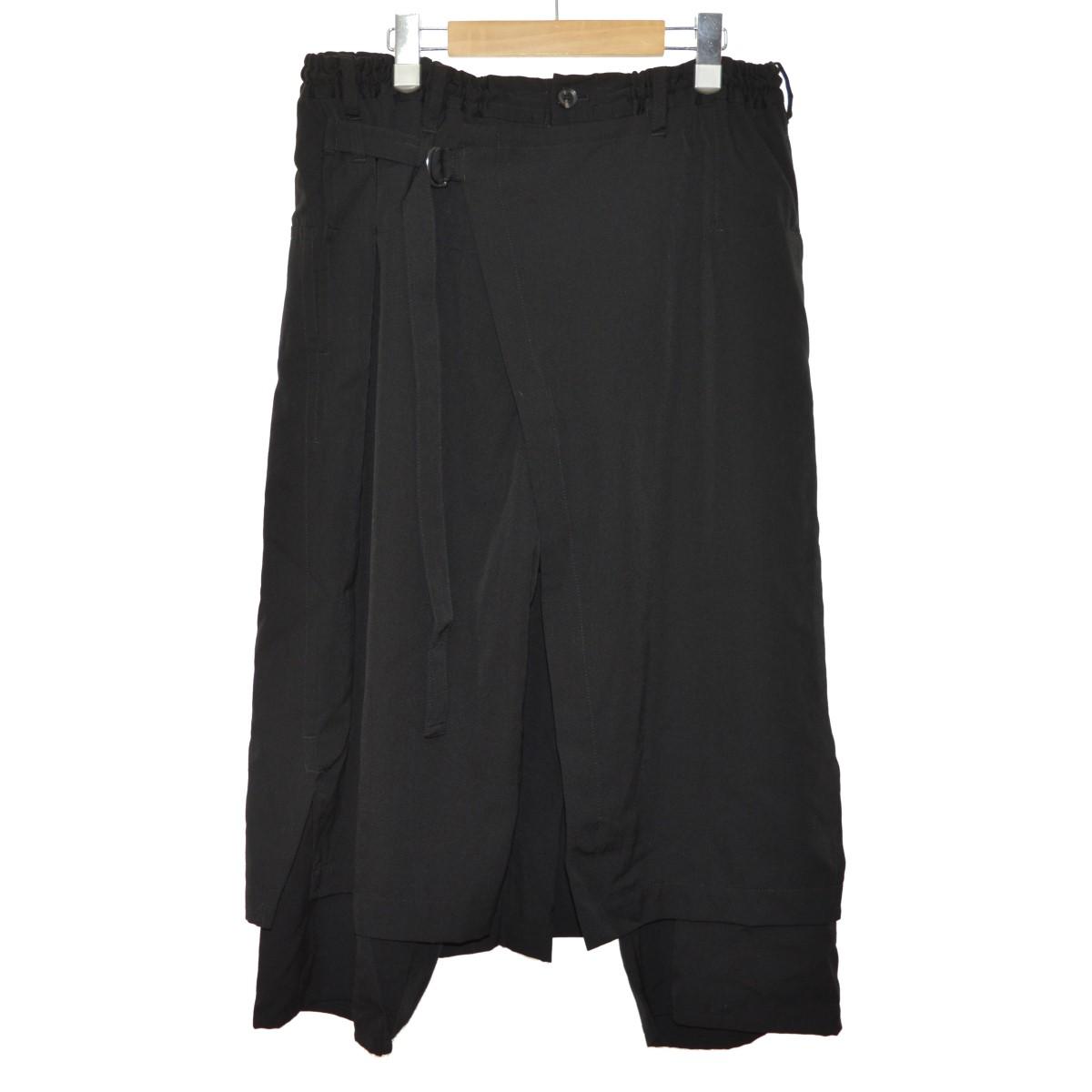 【中古】YOHJI YAMAMOTO pour homme 18SS 左ラップパンツ ブラック サイズ:3 【240220】(ヨウジヤマモトプールオム)