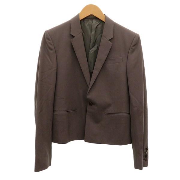 【中古】LAD MUSICIAN ショート丈1Bテーラードジャケット ブラウン サイズ:42 【240220】(ラッドミュージシャン)