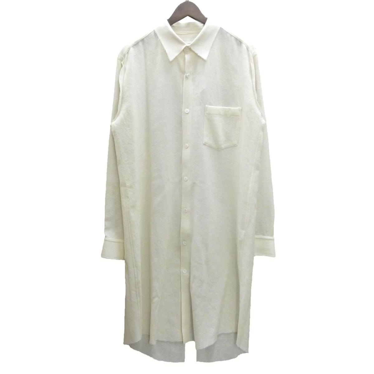 【中古】SULVAM ウールシャツドレス オフホワイト サイズ:S 【240220】(サルバム)
