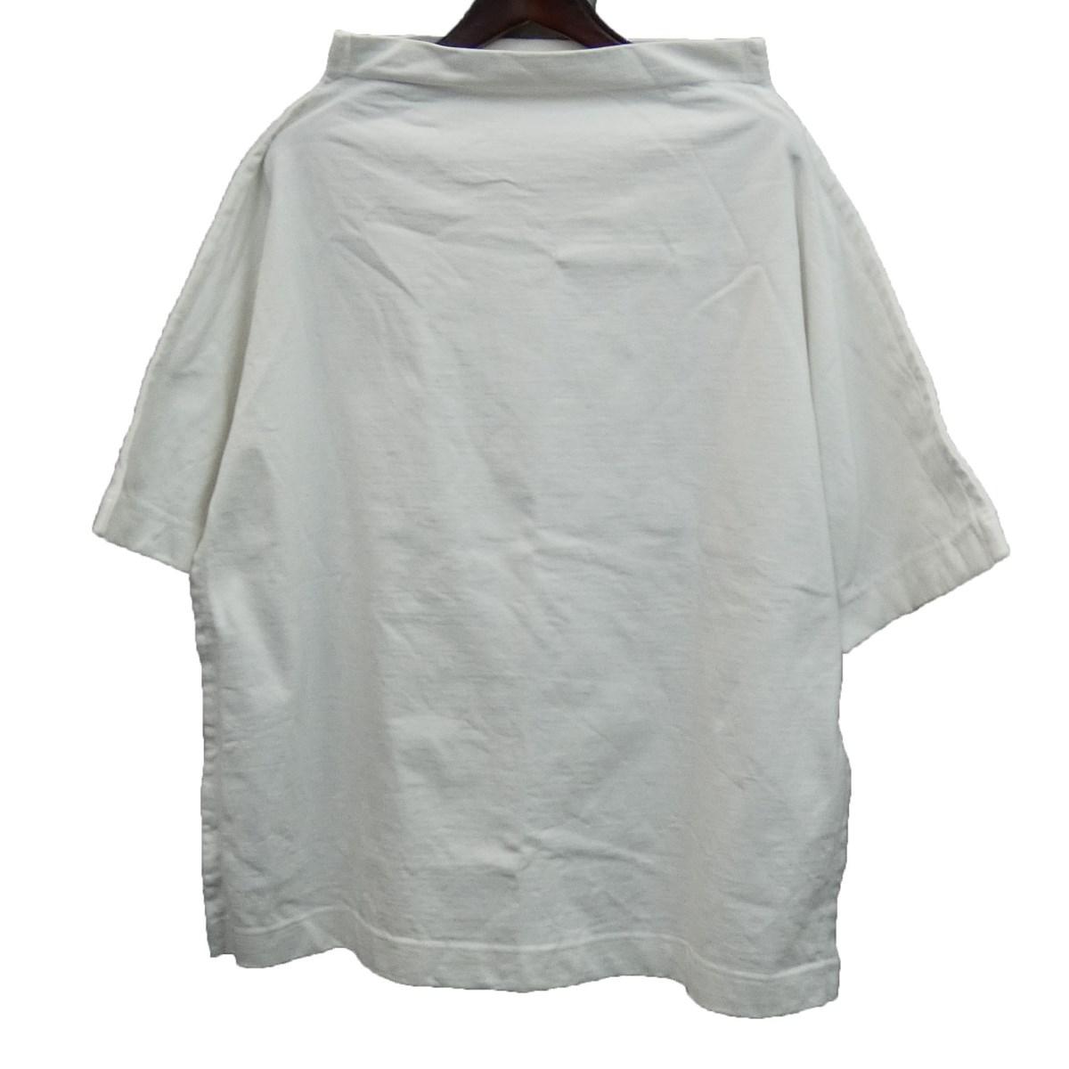 【中古】Maison Margiela 10 19AW フランネルネックボックスTシャツカットソー ホワイト サイズ:S 【240220】(メゾンマルジェラ)