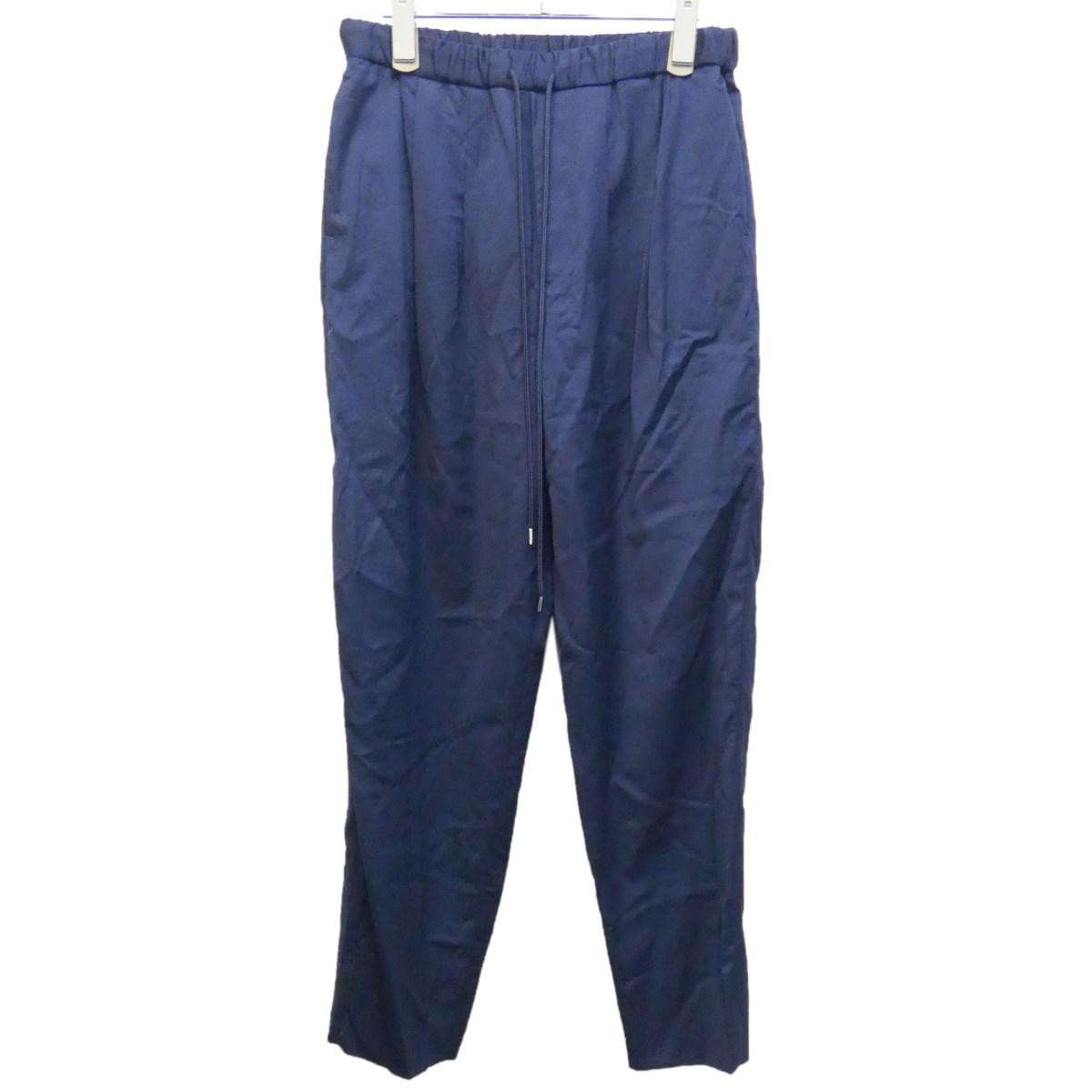 【中古】TOGA VIRILIS 19AW 「WOOL EASY PANTS」イージーパンツ ネイビー サイズ:46 【240220】(トーガ ヴィリリース)