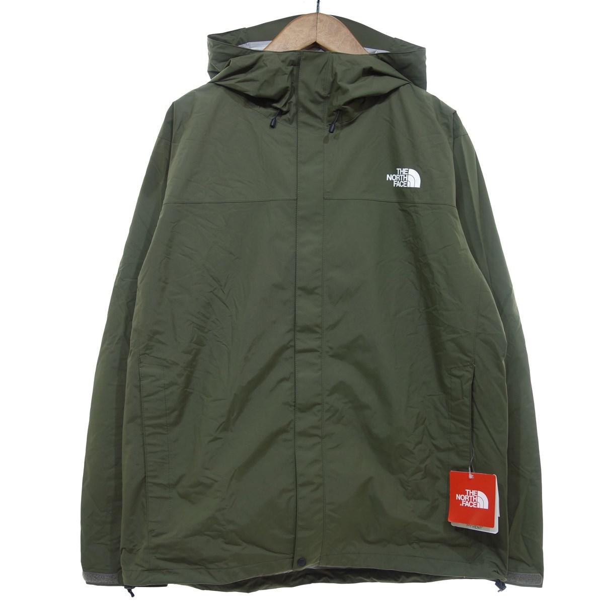 【中古】THE NORTH FACE HYVENT RAINTEX ジャケット カーキ×ブラック サイズ:XL 【250220】(ザノースフェイス)