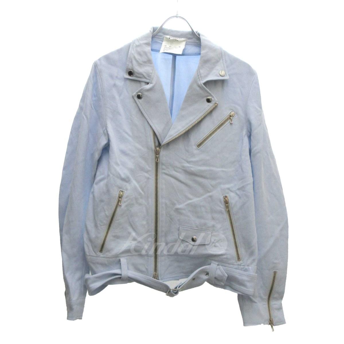 【中古】DIGAWEL4 コットンライダースジャケット ブルー サイズ:1 【240220】(ディガウェル4)