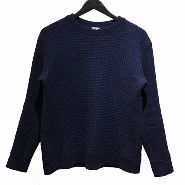 【中古】FilMelange 19AW ALAN Airwool waffle knit Crewneck クルーネック ニット ネイビー サイズ:4 【240220】(フィルメランジェ)