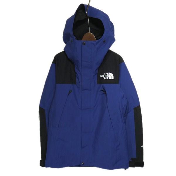 【中古】THE NORTH FACE「Mountain Jacket」マウンテンジャケット ブルー×ブラック サイズ:M 【8月17日見直し】