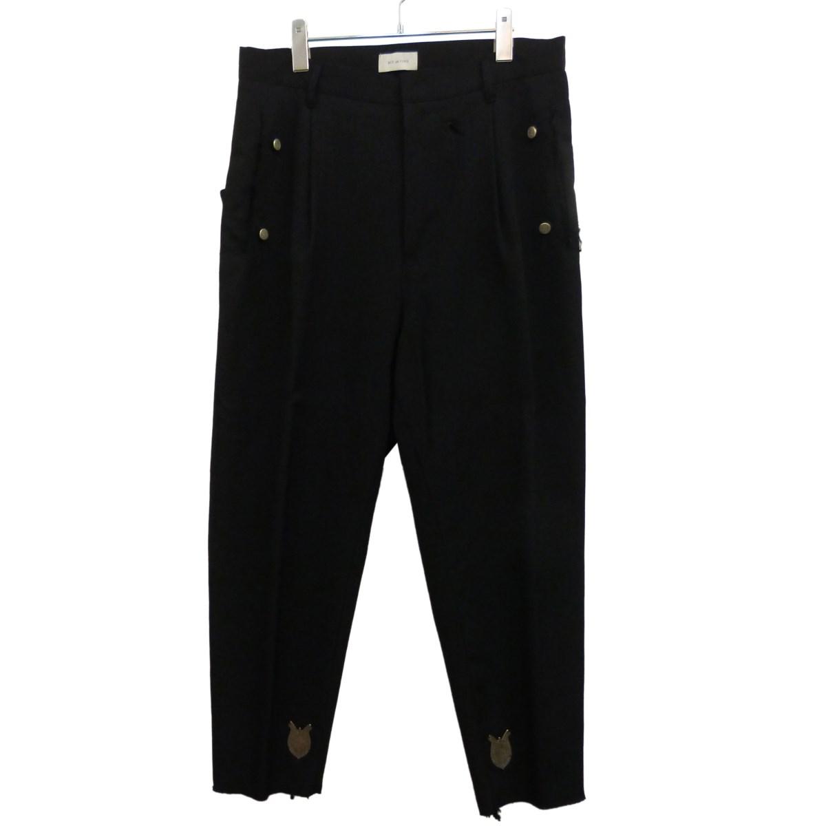 【中古】BED J.W. FORD 19SS「Basic Pants」ワイドスラックス ブラック サイズ:2 【250220】(ベッドフォード)