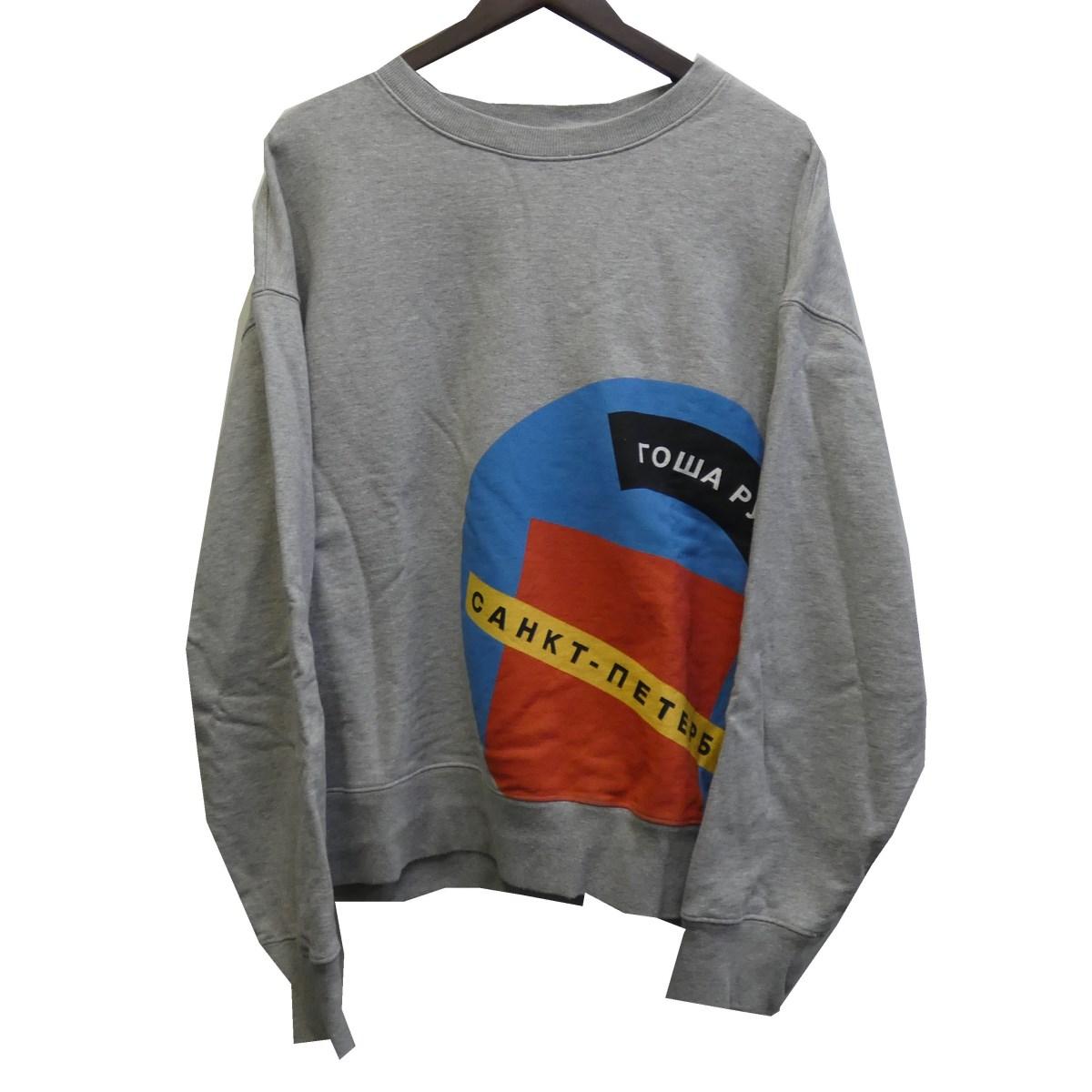 【中古】Gosha Rubchinskiy 18AW「World Cup City Sweatshirt」プリントスウェット グレー サイズ:XL 【250220】(ゴーシャラブチンスキー)