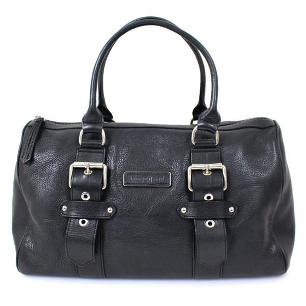 【中古】LONGCHAMP レザー ボストンバッグ かばん ブラック サイズ:- 【250220】(ロンシャン)