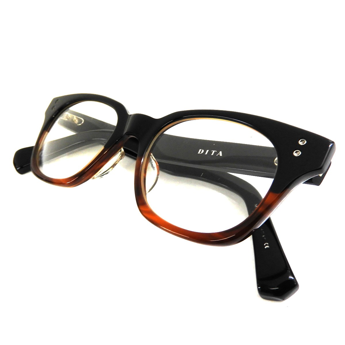 【中古】DITA 「BAYLOR」 サングラス ブラック×ブラウン サイズ:5□20.5-147 【260220】(ディータ)
