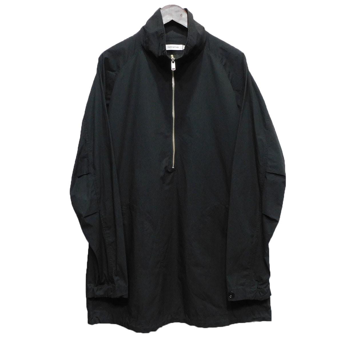 【中古】nonnative「HANDYMAN PULLOVER SHIRT C/N RIPSTOP」 ハーフジップシャツ ブラック サイズ:2 【5月11日見直し】