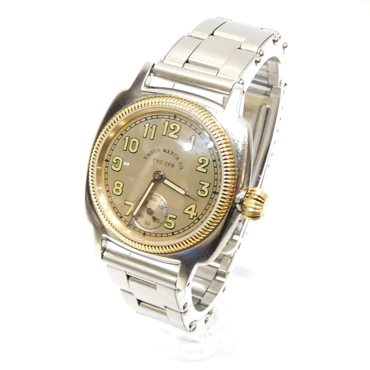 【中古】VAGUE WATCH CO. 「COUSSIN」 腕時計 シルバー/ゴールド 【260220】(ヴァーグウォッチカンパニー)