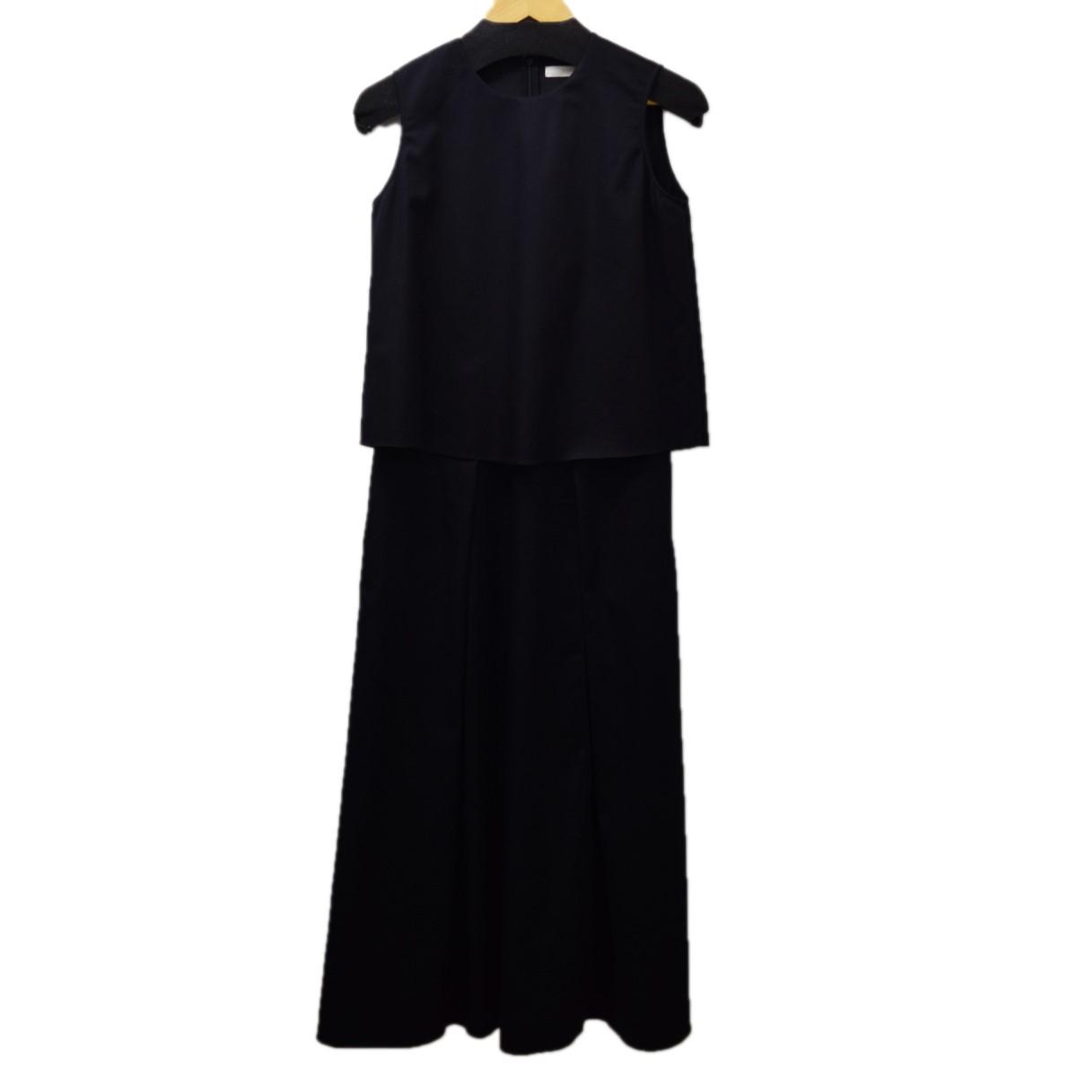 【中古】FIGARO Paris レイヤードワンーピース ブラック サイズ:38 【260220】(フィガロ パリ)