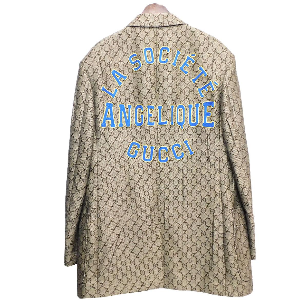 【中古】GUCCI 19SS GGスプリームテーラードジャケット ベージュ サイズ:48 【270220】(グッチ)