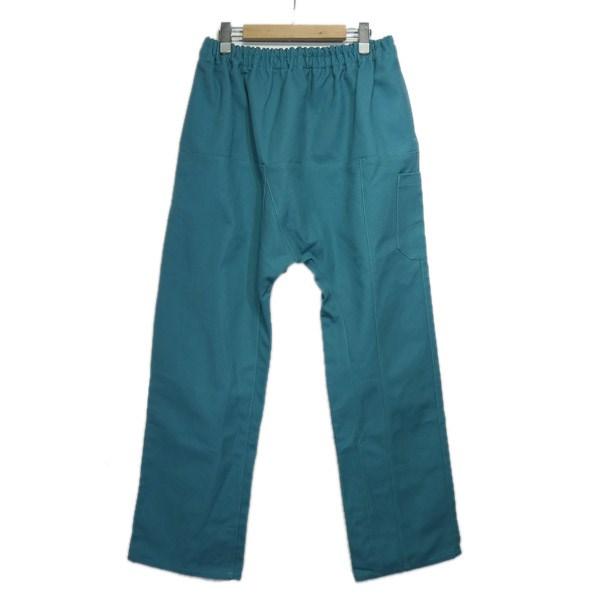 【中古】RAF SIMONS 2018SS「Long pants with elastic」ダックキャンバスサルエルパンツ グリーン サイズ:48 【280220】(ラフシモンズ)